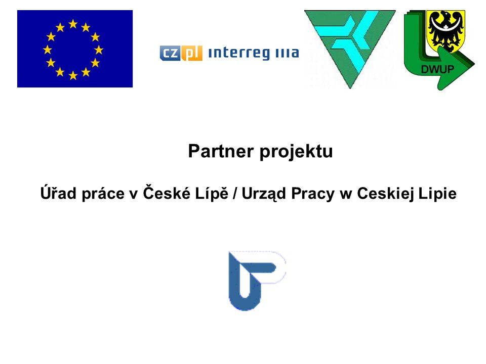 Partner projektu Úřad práce v České Lípě / Urząd Pracy w Ceskiej Lipie