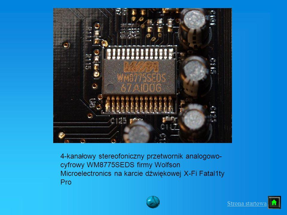4-kanałowy stereofoniczny przetwornik analogowo- cyfrowy WM8775SEDS firmy Wolfson Microelectronics na karcie dźwiękowej X-Fi Fatal1ty Pro