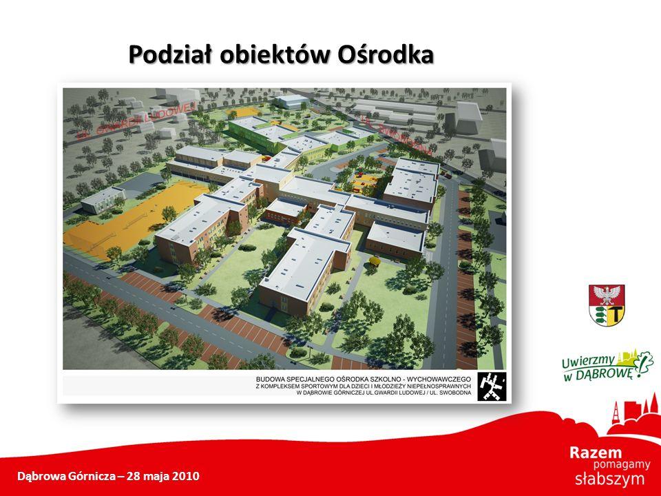 Dąbrowa Górnicza – 28 maja 2010 Podział obiektów Ośrodka