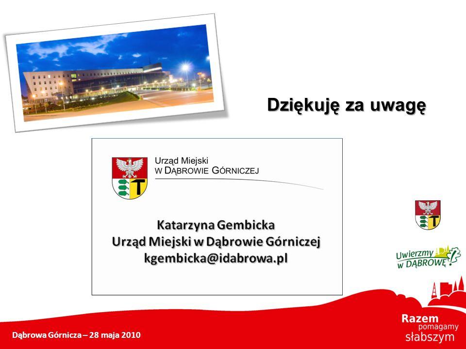 Dąbrowa Górnicza – 28 maja 2010 Dziękuję za uwagę