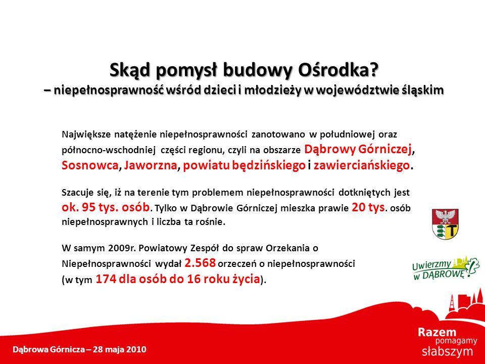 Największe natężenie niepełnosprawności zanotowano w południowej oraz północno-wschodniej części regionu, czyli na obszarze Dąbrowy Górniczej, Sosnowc