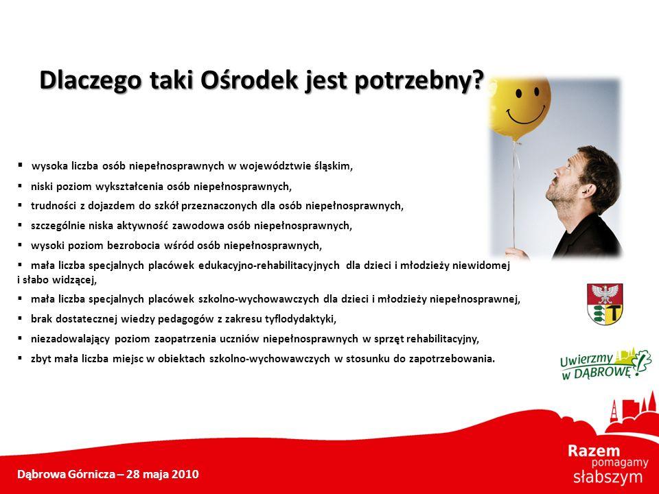 Dlaczego taki Ośrodek jest potrzebny? wysoka liczba osób niepełnosprawnych w województwie śląskim, niski poziom wykształcenia osób niepełnosprawnych,