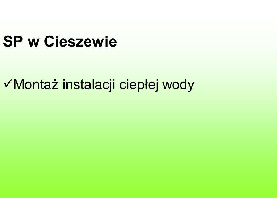 SP w Cieszewie Montaż instalacji ciepłej wody