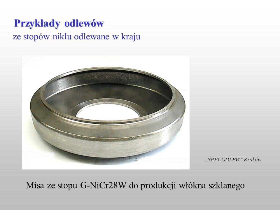 ze stopów niklu odlewane w kraju Przykłady odlewów SPECODLEW Kraków Misa ze stopu G-NiCr28W do produkcji włókna szklanego