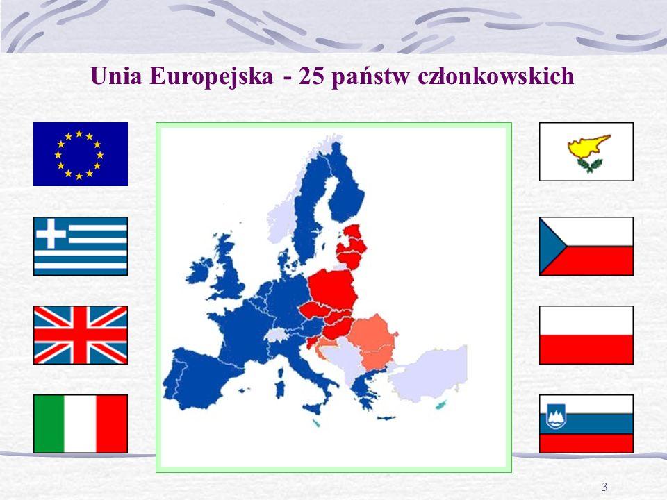 3 Unia Europejska - 25 państw członkowskich