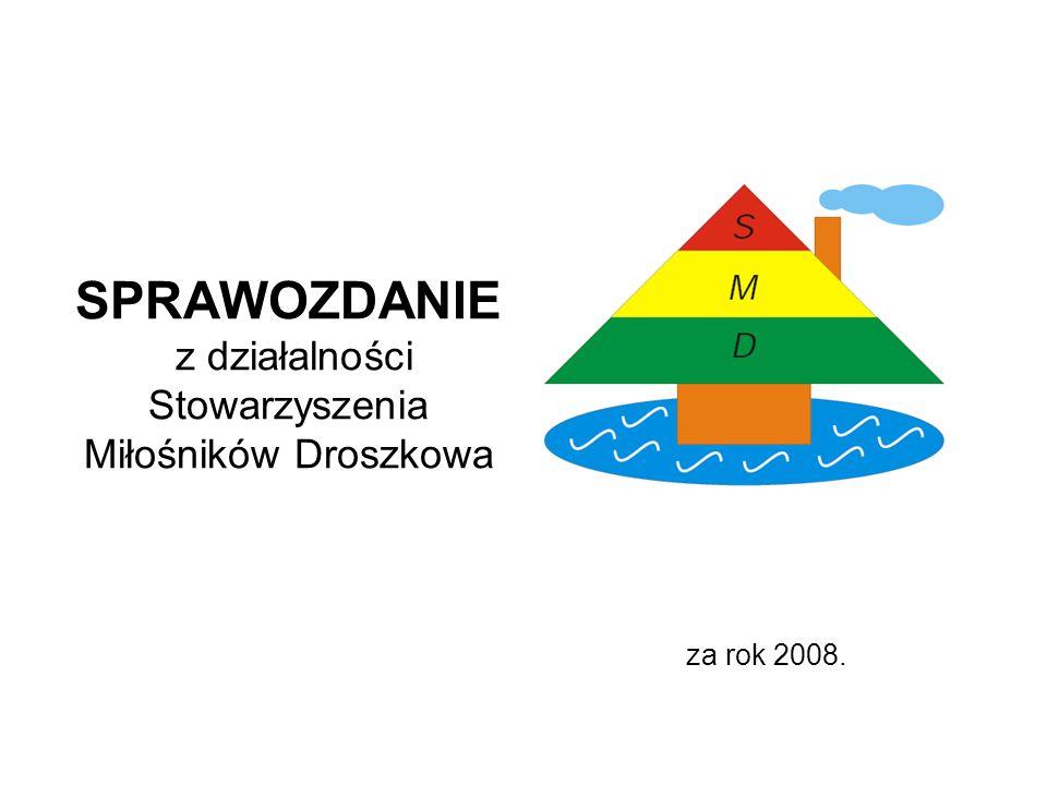 SPRAWOZDANIE z działalności Stowarzyszenia Miłośników Droszkowa za rok 2008.