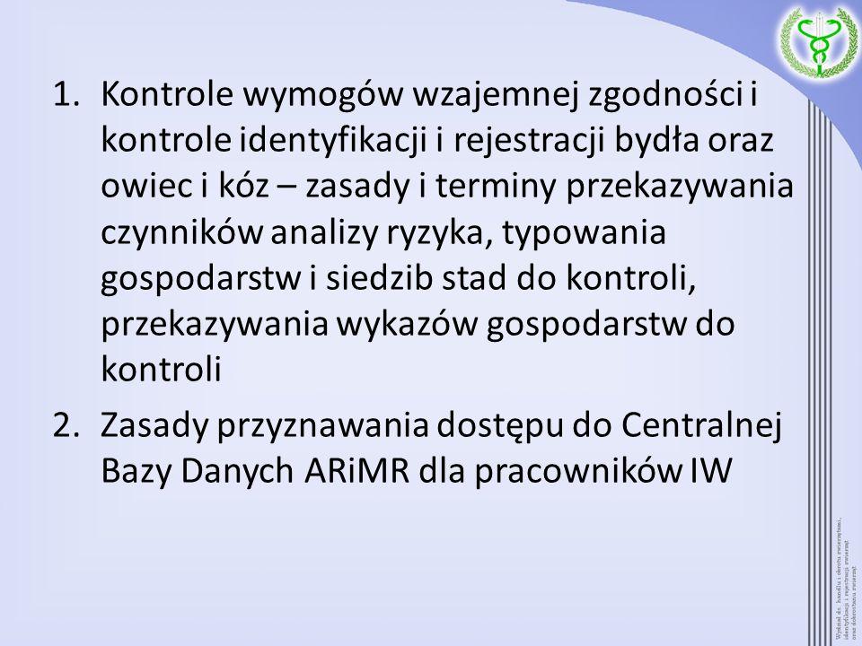 3.Zasady przekazywania danych przez ARiMR organom Inspekcji Weterynaryjnej – kiedy wymagany wniosek.
