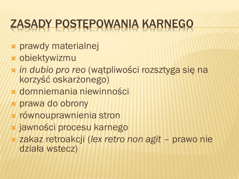 Karami przewidzianymi w polskim prawie są: - grzywna - ograniczenie wolności - pozbawienie wolności - pozbawienia wolności na 25 lat, - dożywotnie pozbawienie wolności