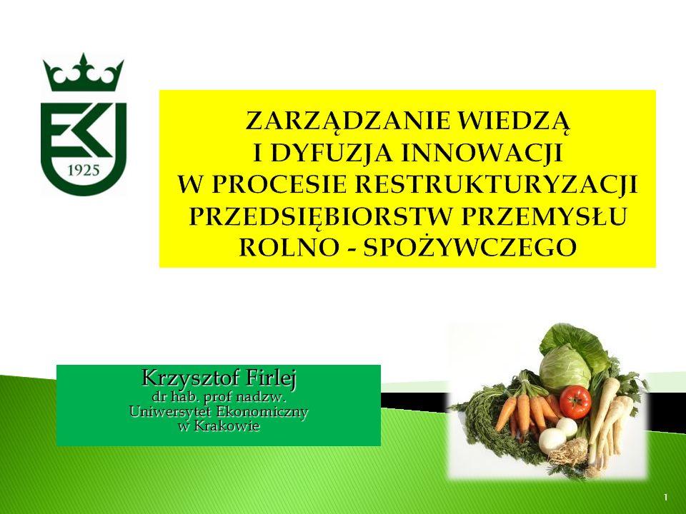 Krzysztof Firlej dr hab. prof nadzw. Uniwersytet Ekonomiczny w Krakowie 1