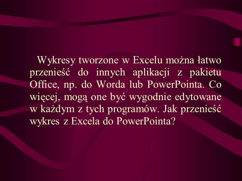 1 Współpraca Excela z innymi programami Współpraca Excela z innymi programami.