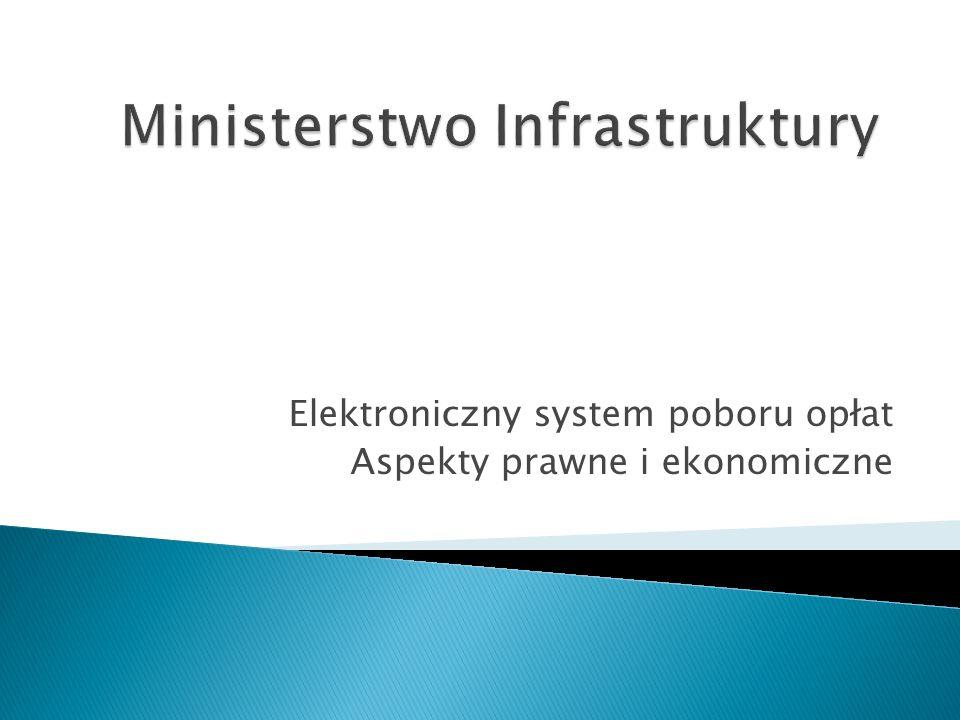 Elektroniczny system poboru opłat Aspekty prawne i ekonomiczne