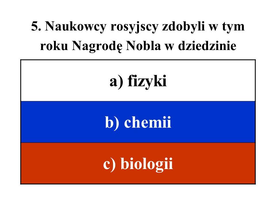 6. Grigorij Perelman, który udowodnił hipotezę Poincarego, to a) fizyk b) chemik c) matematyk