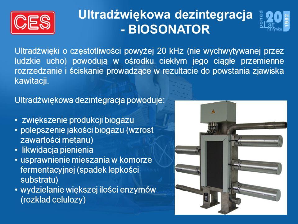 Ultradźwiękowa dezintegracja - BIOSONATOR Ultradźwięki o częstotliwości powyżej 20 kHz (nie wychwytywanej przez ludzkie ucho) powodują w ośrodku ciekł