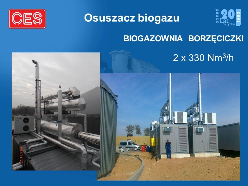 Osuszacz biogazu 2 x 330 Nm 3 /h BIOGAZOWNIA BORZĘCICZKI