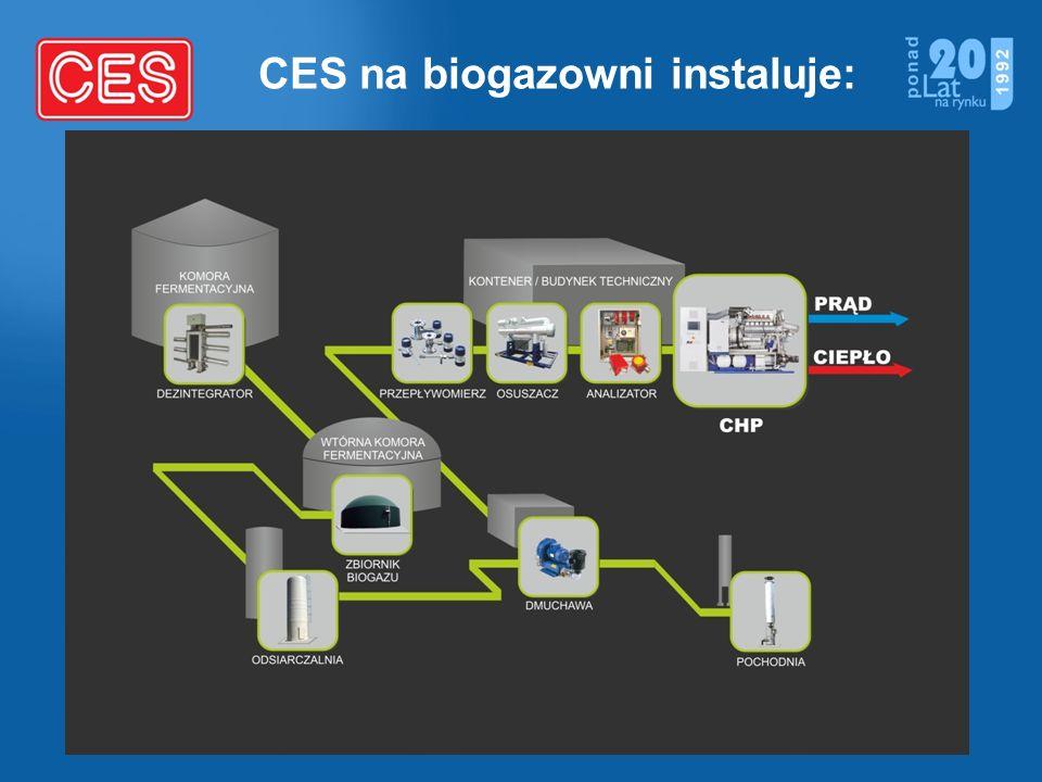 CES na biogazowni instaluje: