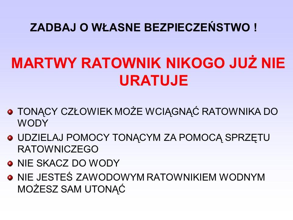 PODEJMOWANIE OSÓB Z OBIEKTÓW WODNYCH 1.BUDOWLA WODNA, 2.