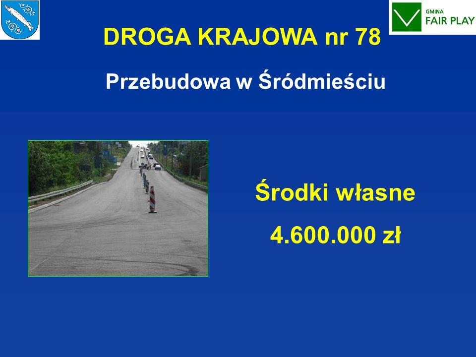 DROGA KRAJOWA nr 78 Przebudowa w Śródmieściu Środki własne 4.600.000 zł