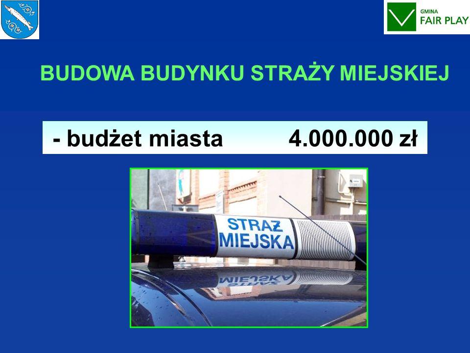 BUDOWA BUDYNKU STRAŻY MIEJSKIEJ - budżet miasta 4.000.000 zł