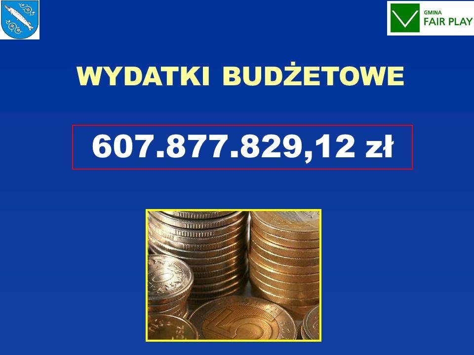 WYDATKI BUDŻETOWE 607.877.829,12 zł