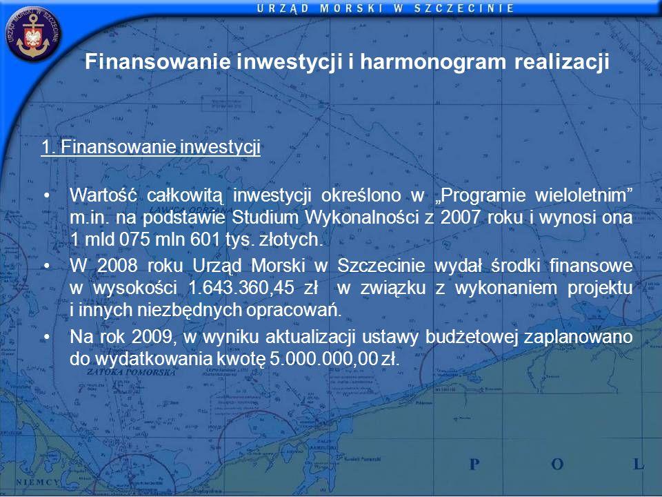 Finansowanie inwestycji i harmonogram realizacji 1. Finansowanie inwestycji Wartość całkowitą inwestycji określono w Programie wieloletnim m.in. na po