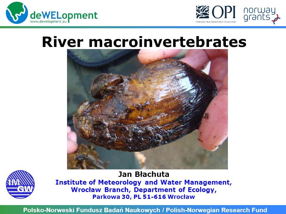 Polsko-Norweski Fundusz Badań Naukowych / Polish-Norwegian Research Fund Present WB of river within River Wel basin