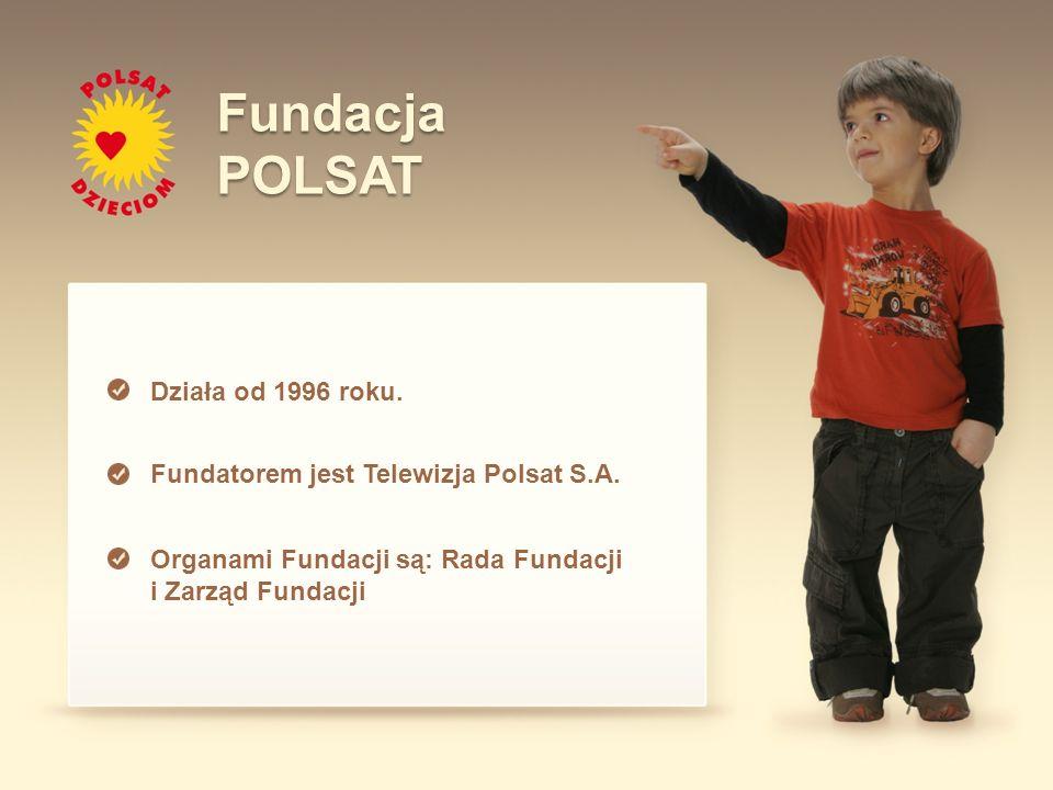 Działa od 1996 roku. Fundatorem jest Telewizja Polsat S.A. Organami Fundacji są: Rada Fundacji i Zarząd Fundacji FundacjaPOLSAT