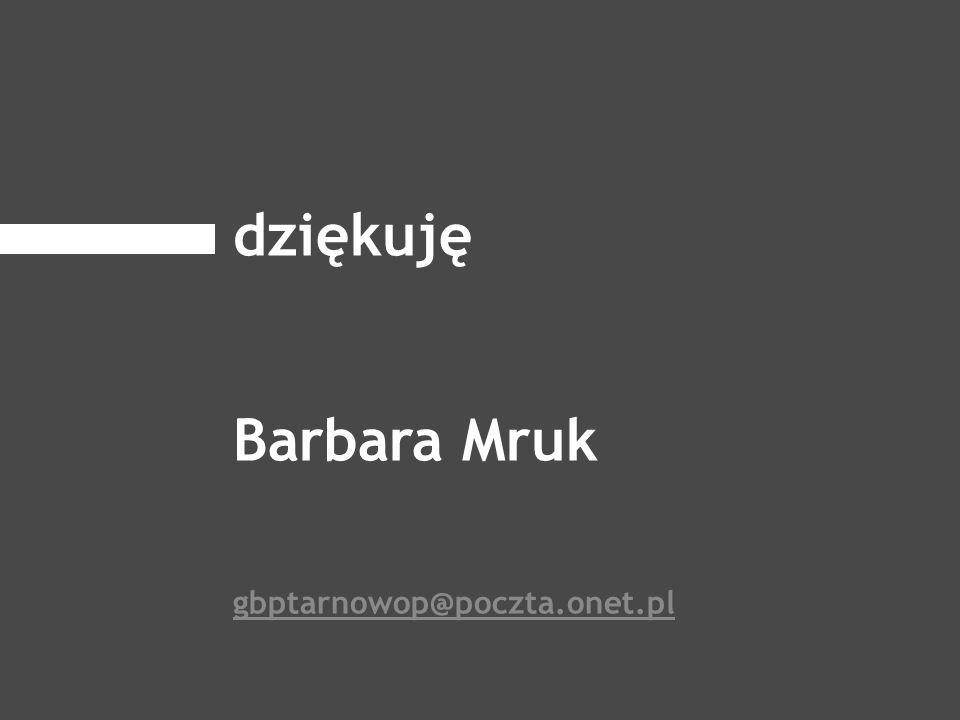 dziękuję Barbara Mruk gbptarnowop@poczta.onet.pl