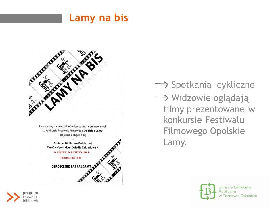 Lamy na bis Spotkania cykliczne Widzowie oglądają filmy prezentowane w konkursie Festiwalu Filmowego Opolskie Lamy.