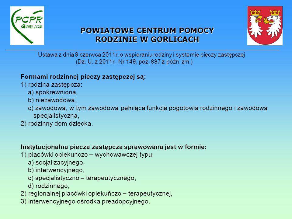 ustawa z dnia 9 czerwca 2011r.o wspieraniu rodziny i systemie pieczy zastępczej (Dz.