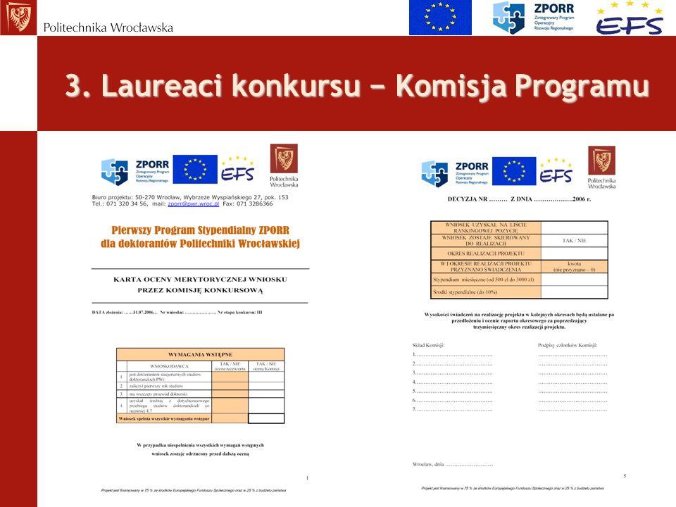 3. Laureaci konkursu Komisja Programu