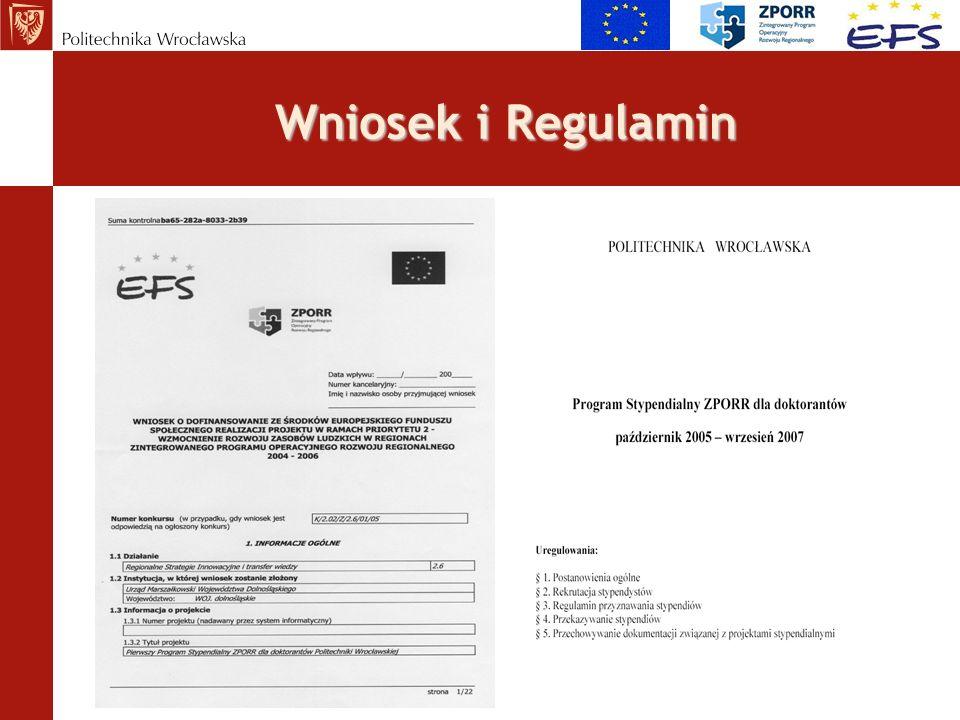 Umowa i realizacja Harmonogram realizacji projektu 4 etapy konkursu co 6 miesięcy I etap konkursu - listopad 2005 r.