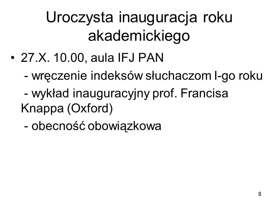 8 Uroczysta inauguracja roku akademickiego 27.X.