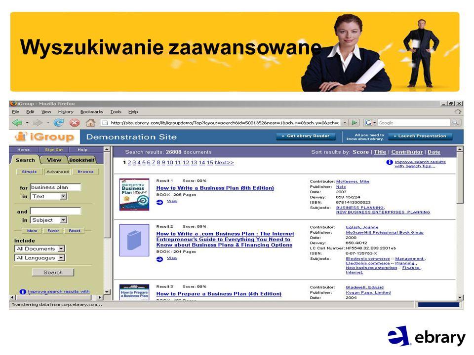 Platformy dostępne dla administratora: Generowanie statystyk : -Wg tematyki książek -Wg adresów IP -Tytułami książek Platforma eBOP - przeszukiwanie wszystkich książek (nie tylko dostępnych w ramach prenumeraty i zakupu), przygotowywanie i wysyłanie zamówień.