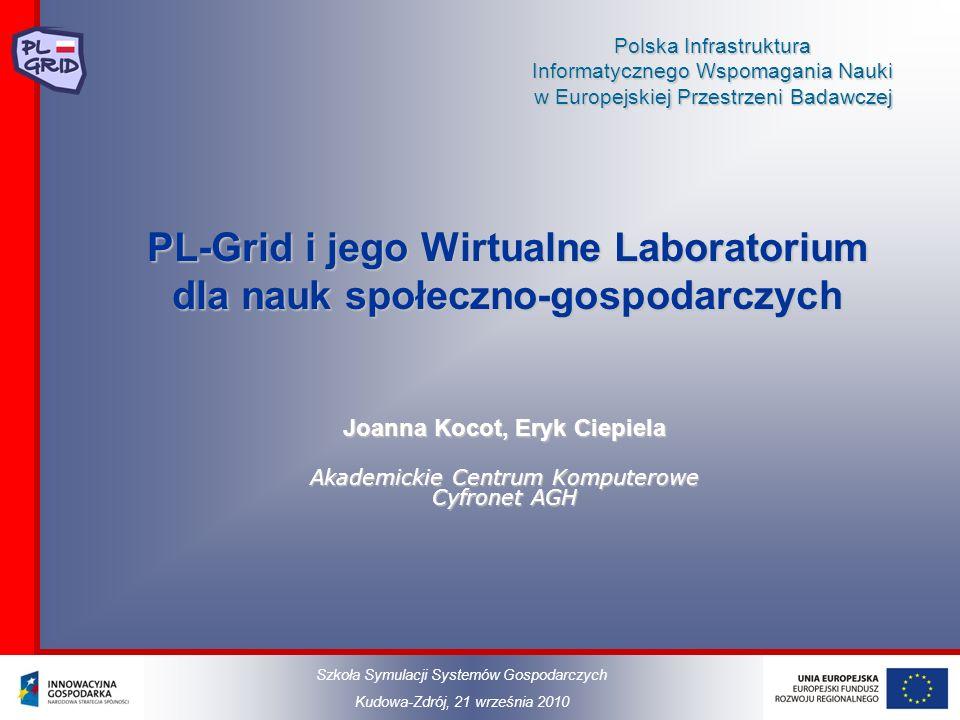 Polska Infrastruktura Informatycznego Wspomagania Nauki w Europejskiej Przestrzeni Badawczej PL-Grid i jego Wirtualne Laboratorium dla nauk społeczno-