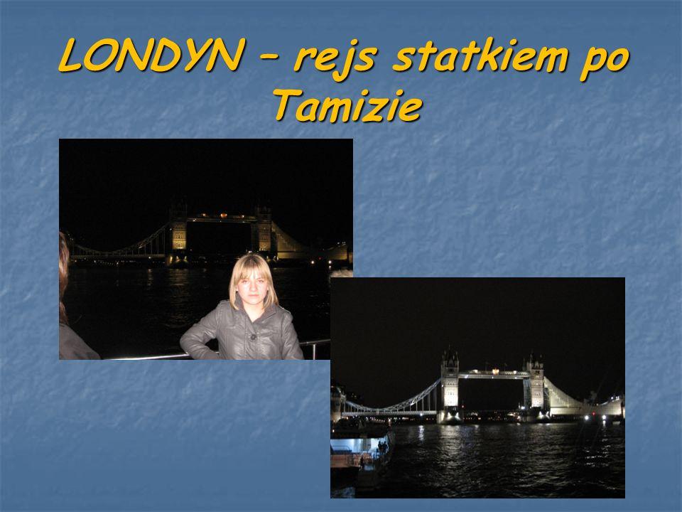 LONDYN – rejs statkiem po Tamizie