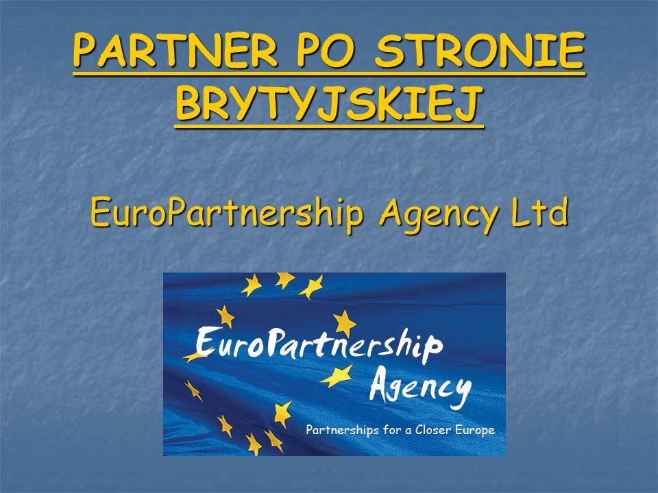 Firma EuroPartnership Agency Ltd była odpowiedzialna za: - wyselekcjonowanie miejsc stażu - zapewnienie zakwaterowania, wyżywienia - zapewnienie lokalnego transportu dla uczestników - zapewnienie prawidłowego przebiegu praktyk - organizację zajęć kulturowych i rekreacyjnych - we współpracy z promotorem za monitoring stażu i bieżące zarządzanie - zapewnienie opieki i pomocy uczniom w miejscu odbywania praktyki - wydanie certyfikatów potwierdzających odbycie praktyki