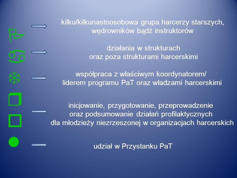 PaTrolPaTrol kilku/kilkunastoosobowa grupa harcerzy starszych, wędrowników bądź instruktorów działania w strukturach oraz poza strukturami harcerskimi