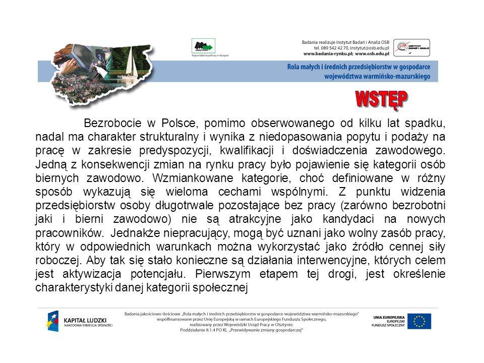 Bezrobocie w Polsce, pomimo obserwowanego od kilku lat spadku, nadal ma charakter strukturalny i wynika z niedopasowania popytu i podaży na pracę w za