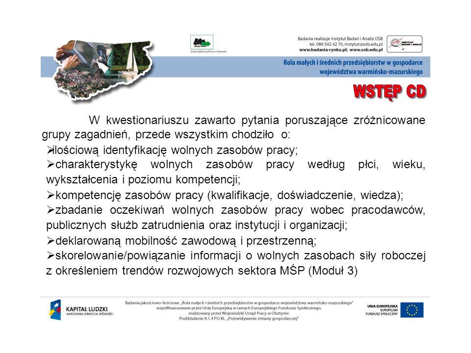 Charakterystykę osób b iernych zawodowo i bezrobotnych w województwie warmińsko-mazurskim należy zacząć od opisu populacji osób biorących udział w badaniu.