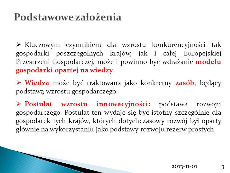 2013-11-013 Kluczowym czynnikiem dla wzrostu konkurencyjności tak gospodarki poszczególnych krajów, jak i całej Europejskiej Przestrzeni Gospodarczej,