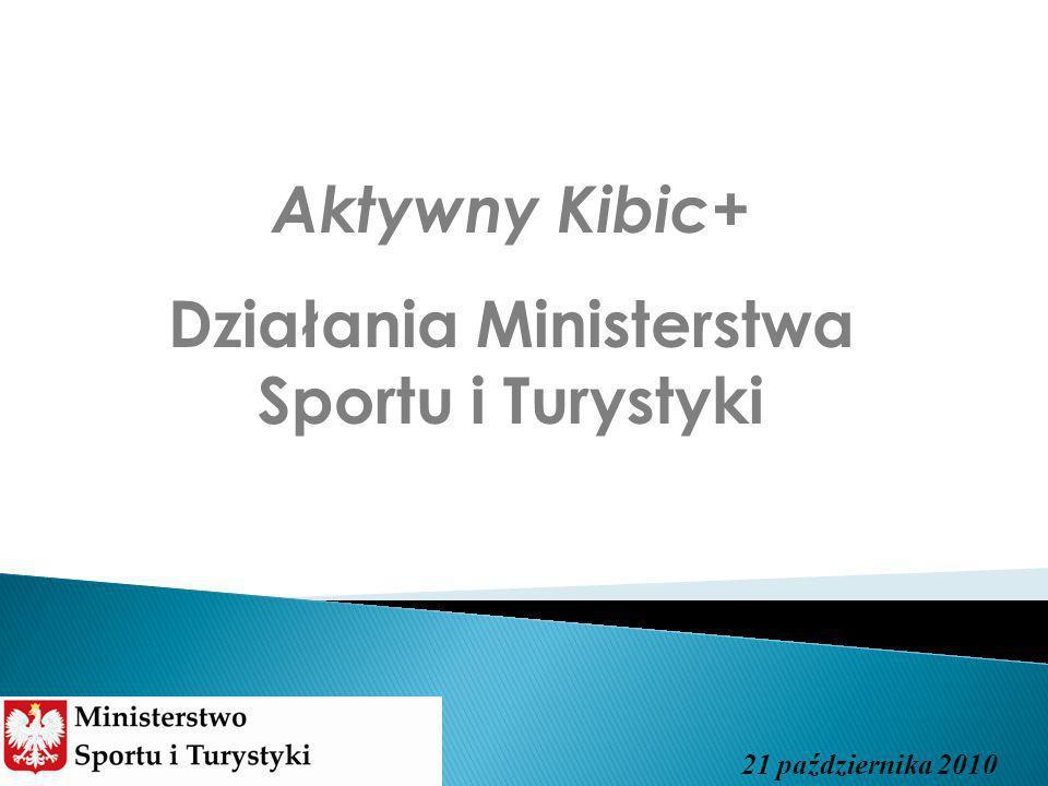 Aktywny Kibic+ Działania Ministerstwa Sportu i Turystyki 21 października 2010