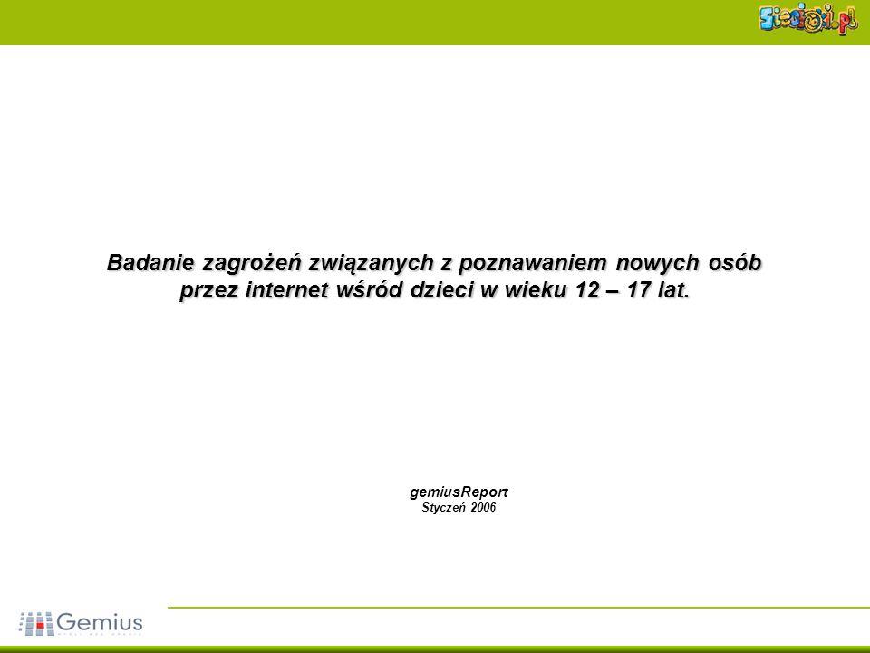 12 Usługi internetowe Źródło: gemiusReport, styczeń 2006Źródło: gemiusReport, październik 2004