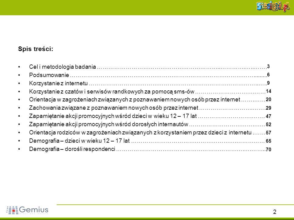23 Ocena niebezpieczeństwa podawania obcym w internecie prywatnych informacji Źródło: gemiusReport, styczeń 2006Źródło: gemiusReport, październik 2004