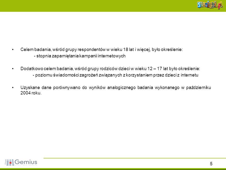36 Częstotliwość podawania w internecie prywatnych informacji Źródło: gemiusReport, styczeń 2006Źródło: gemiusReport, październik 2004