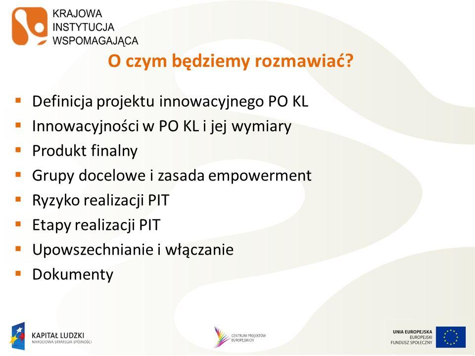 Publikacje KIW (2) Mainstreaming w pigułce, Koncepcja funkcjonowania Sieci Tematycznych w okresie programowania 2007-2013 w ramach PO KL, Poradnik dla oceniających projekty innowacyjne i projekty współpracy ponadnarodowej, Czas innowacji.
