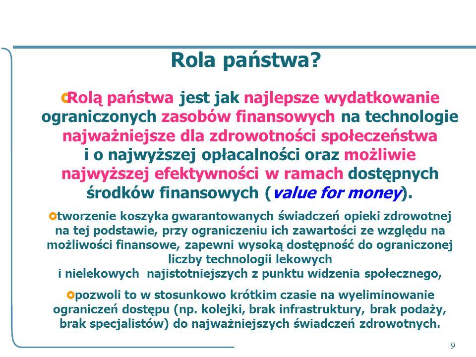 10 Kierunek, w którym zmierzamy: Agencja AOTM kryteria koszyk ubezpieczenia dodatkowe poprawa jakości i dostępności + dodatkowe środki w systemie + zmiany systemowe i kulturowe.