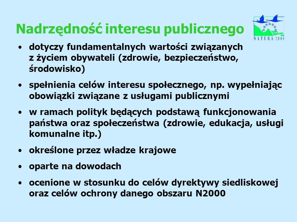 Nadrzędność interesu publicznego dotyczy fundamentalnych wartości związanych z życiem obywateli (zdrowie, bezpieczeństwo, środowisko) spełnienia celów