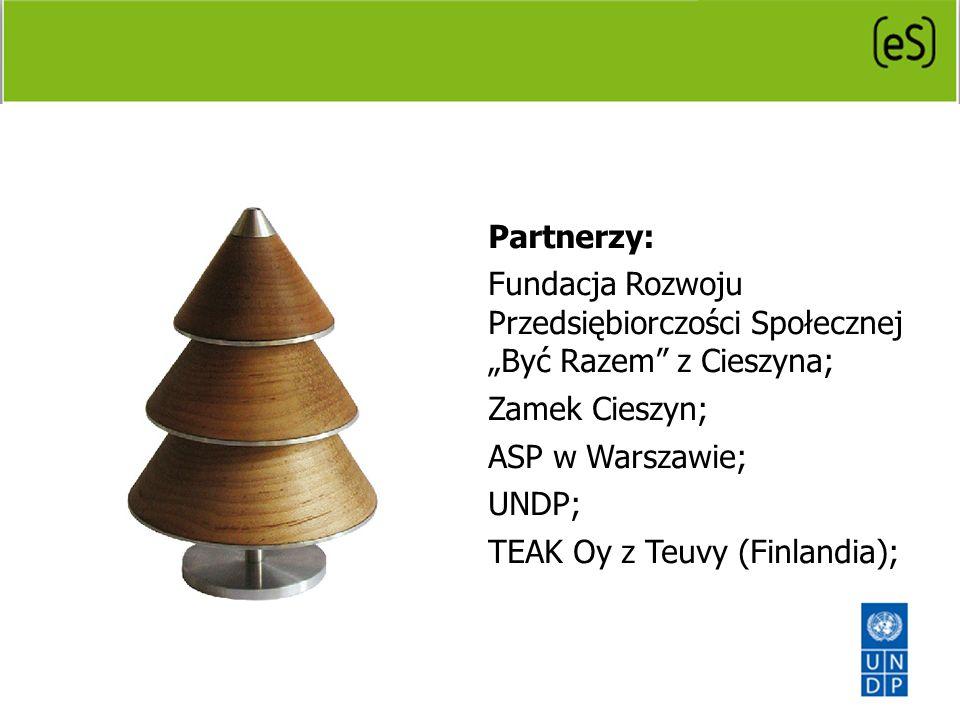 Partnerzy: Fundacja Rozwoju Przedsiębiorczości Społecznej Być Razem z Cieszyna; Zamek Cieszyn; ASP w Warszawie; UNDP; TEAK Oy z Teuvy (Finlandia);