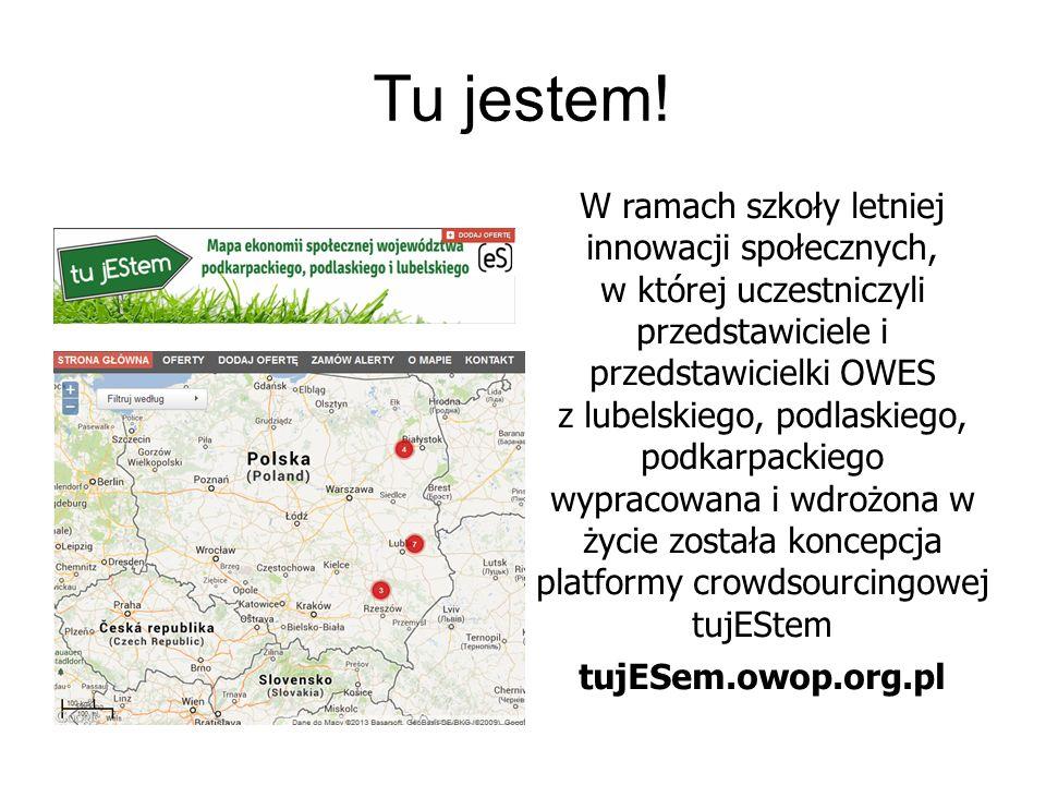 Tu jestem! W ramach szkoły letniej innowacji społecznych, w której uczestniczyli przedstawiciele i przedstawicielki OWES z lubelskiego, podlaskiego, p