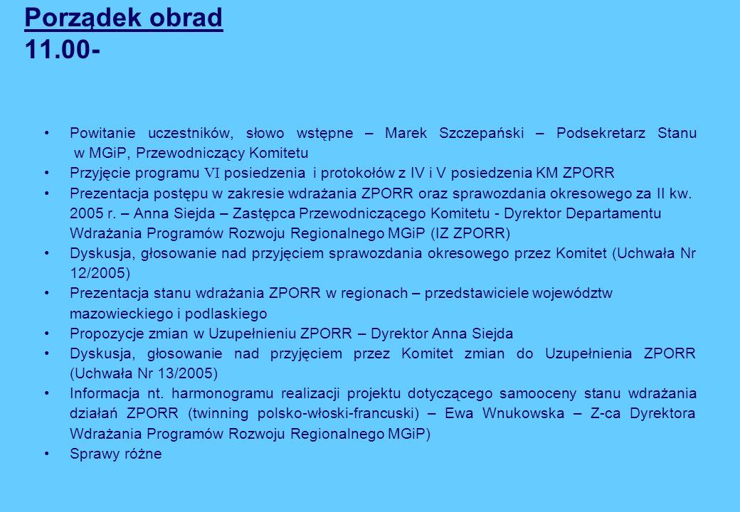 Ministerstwo Gospodarki i Pracy SIMIK dla ZPORR (do końca VII.05 r.) 2 Od kwietnia br.